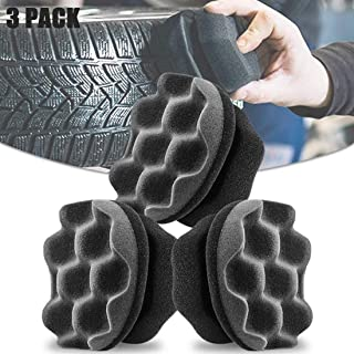 2Buyshop 3 Pack Tire Shine Applicator Ergonomic Design Tire Brush Tire Dressing Applicator Pad Durable, Keeps Tires Shine, Reusable and Washable, Perfect for Tire Detailing (Color 1)