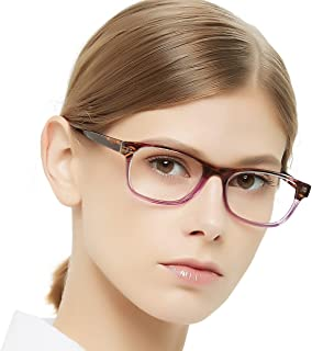 bad5ece7c5 OCCI CHIARI Rectangle Stylish Non-prescription Optical Women Eyewear Frame  With Clear Lens