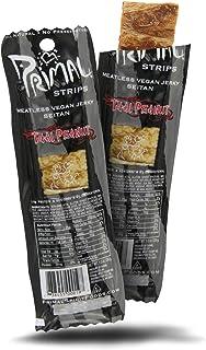 Primal Vegan Jerky | Seitan - Thai Peanut Jerky | 14 x 28g