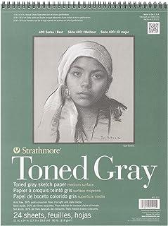 Strathmore Toned Grey Croquis Pad 11 pouces x 14 pouces, 24 feuilles