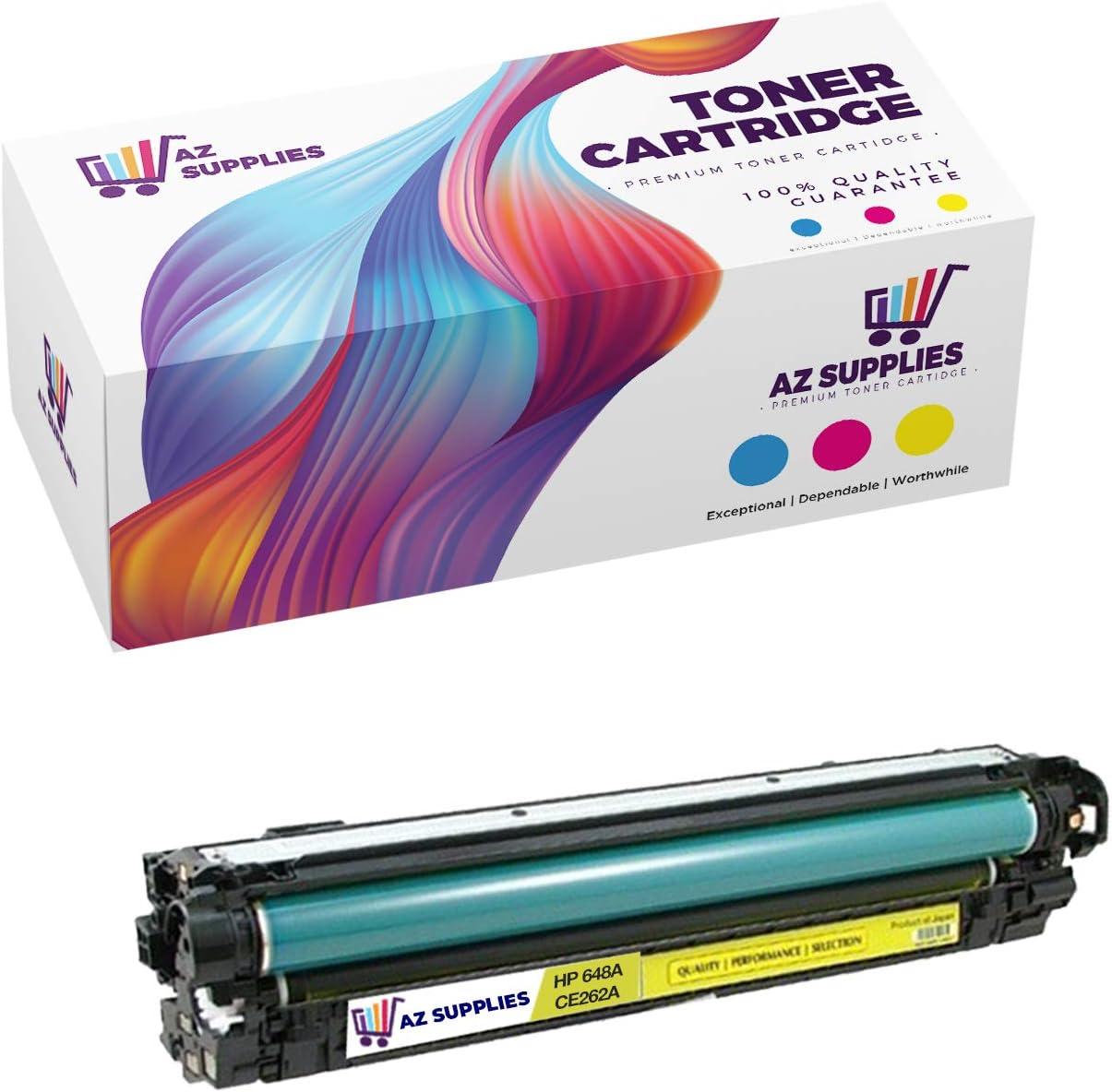 AZ SUPPLIES   20% More Print Yield   Compatible with HP 648A CE262A Yellow for Color Laserjet CP4025 CP4525, CM4540 MFP, CP4525xh, CP4025n, CP4525n, CP4025dn, CP4525dn