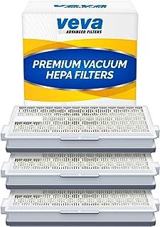 VEVA 3 Pack Premium Vacuum HEPA Filter Set Model SF-HA 50 Works With Miele S4, S5, S6, S8, S8000, S8999, S6000, S6999, S5000, S5999, S4000, S4999, Complete C2, Complete C3, Compact C1, Compact C2