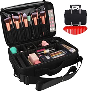 Makeup Case, Chomeiu Travel Makeup Bag Cosmetic Organizer Adjustable Compartment Professional Makeup Artist Carrying Case With Shoulder Stra