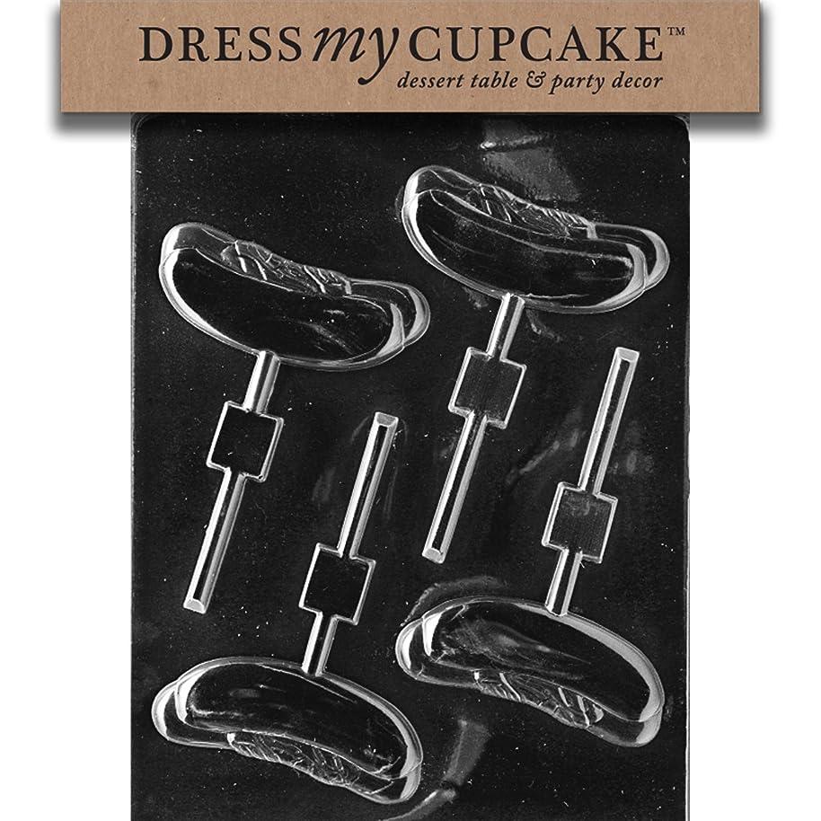 Dress My Cupcake DMCK042 Chocolate Candy Mold, Hot Dog Lollipop