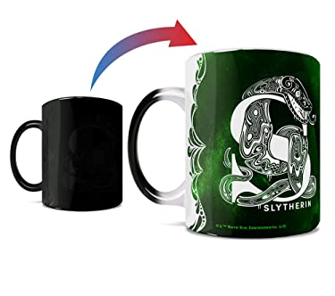 Harry Potter - Slytherin - Aguamenti - One 11 oz Morphing Mugs Color Changing Heat Sensitive Ceramic Mug – Image Revealed When HOT Liquid Is Added!