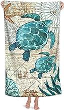 Sea Turtle Microfiber Beach Towels Oversized for Bathroom Quick Dry Bath Towel for Women Men