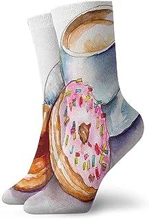 BEDKKJY, Calcetines Deportivos Café Amor Pinterest Vestido para Hombre único Medias Decoración Calcetín para niños