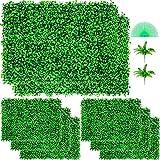 VEVOR Plantas Hiedra Artificial 61 x 40,6 cm, Plantas Artificiales Decorativas 8 Piezas, Estera de Seto Artificial de Boj con Espesor de 4 cm, Jardín Vertical 100% PE, Plantas Artificiales Colgantes