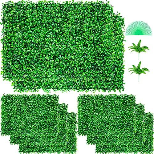 VEVOR Plantas Hiedra Artificial 61 x 40,6 cm, Plantas Artificiales Decorativas 8 Piezas, Estera de...