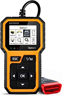 AstroAI OBD2 ASIOS520 Escáner Automotriz Professional, Lector de Códigos Universal, Scaner para Auto Herramienta de Diagnóstico con Pantalla de Color