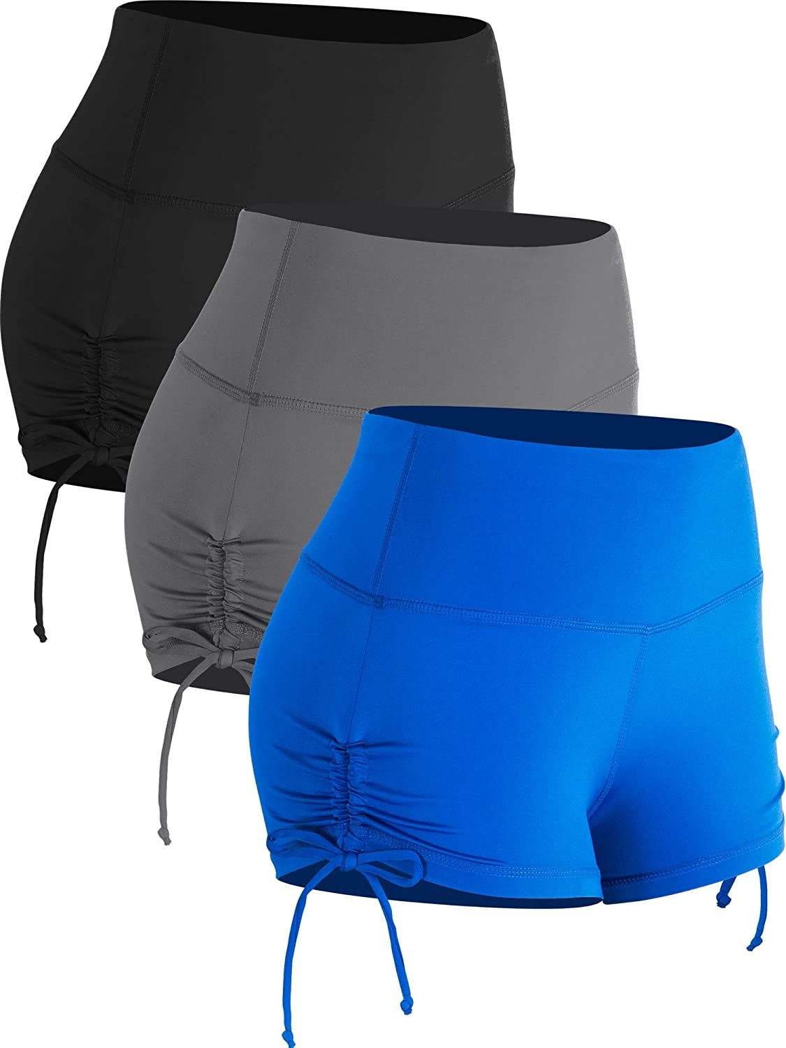Cadmus Athletic Booty Shorts for Women 3 Pack High Waisted Workout Pro
