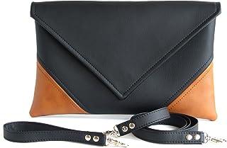 4c30566b6131 Envelope Handmade Clutch Black Handbag Brown Clutch Purse Vegan Gift For  Women Faux Leather Handbags Vegan