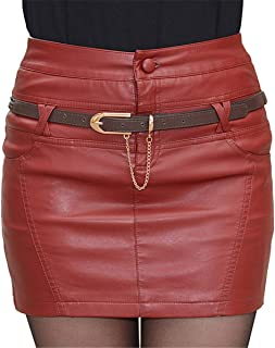 e6d04595cf Skitor Business Mode Jupe Hanche Dames Moulante Jupes Elastique Chique  Skirt Cuir Courte Jupe Crayon Sexy