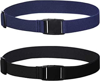 Womens Invisible Belt Elastic Adjustable - No Show Web Belts For Women 2 Pieces