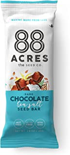 88 Acres Granola Bars | Gluten Free, Nut-Free Oat and Seed Snack Bar | Vegan & Non GMO | 6 Pack (Dark Chocolate Sea Salt)
