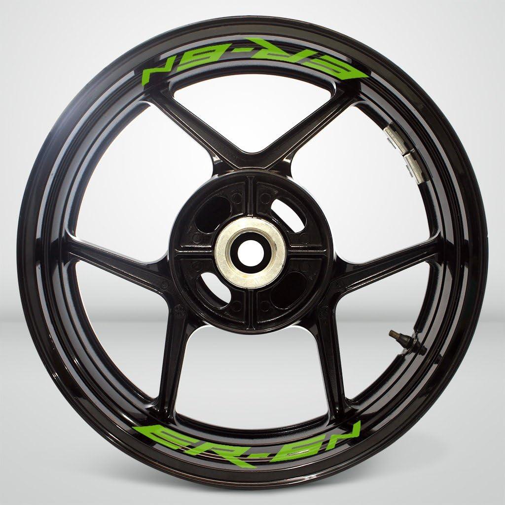 2 Tonos de Ar/ándano Motocicleta Moto Llanta Inner Rim Tape Decal Pegatinas para Kawasaki ER6N