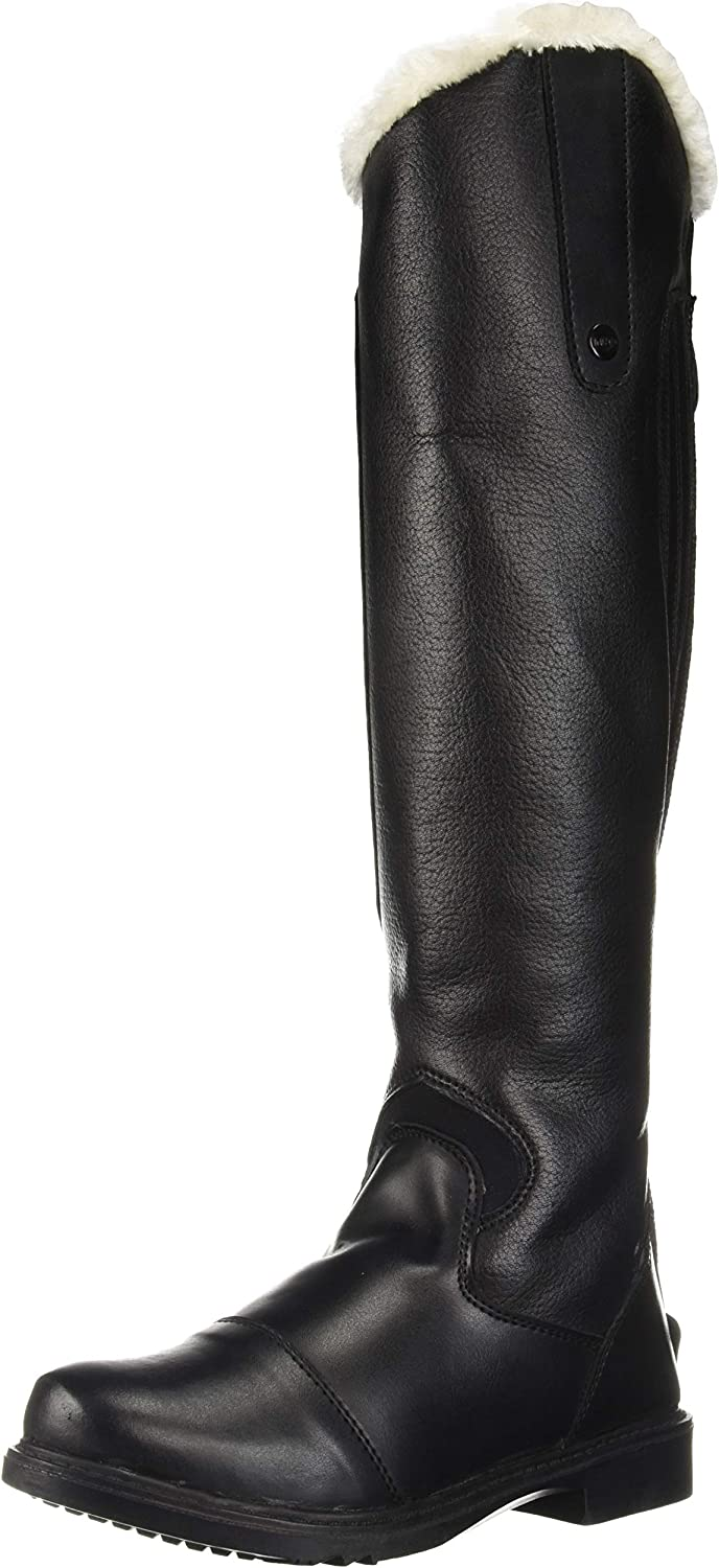 Black TuffRider Womens Tundra Fleece Lined Tall Boots in Synthetic Leather