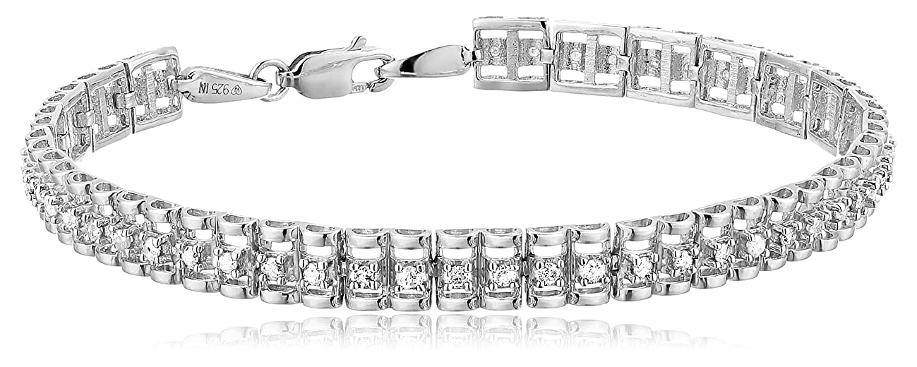 Original Classics Sterling Silver Rose-Cut Diamond Tennis Bracelet (1.00 cttw, I-J Color, I3 Clarity)