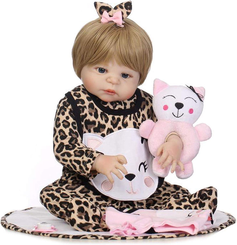 Terabithia 22 inch Lifelike Reborn Baby Doll,Sweet Smile Kitty,Girl Doll Handcrafted in SiliconeLike Vinyl Full Body