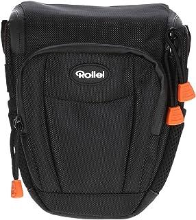 Rollei Fotoliner Holstertasche M   Hochwertige und gepolsterte Kameratasche zum Transportieren Ihrer DSLR Kamera, inkl. Tragegurt und Regenschutz   Größe: 16 x 11 x 20