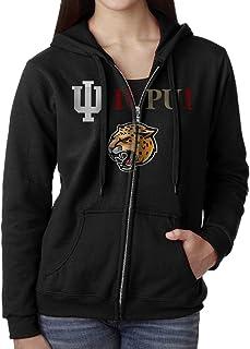 JMDNVTY Women Indiana University IUPUI Jaguars Logo Hoodie Sweatshirt Black