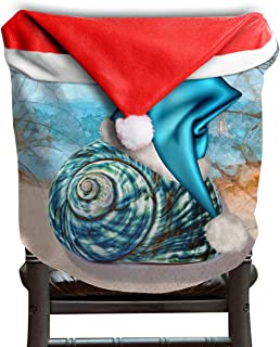 FLZTONG Tropical Hawaii Beach Christmas Seashell Blue Themed Christmas Xmas Dinning Table Seat Chair Cap Hat Covers for Backers Slipcovers Wraps Coverings Decorations Protector Party Decor