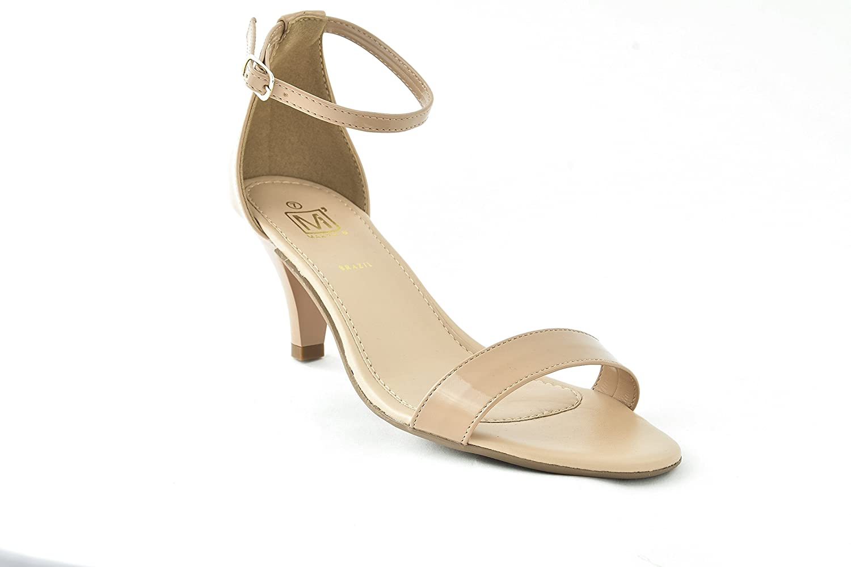 Maker's shoes Gina-5 Women's Vegan Leather Glither Kitter Hell Dress Sandal