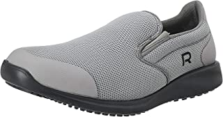Salerno Mesh-Textile Round-Toe Elastic Side Panel Slip-on Shoes for Men