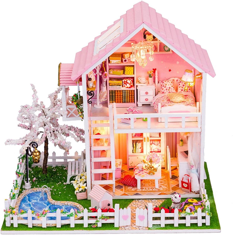 LINAG Kinder Modelle Stichsge Manuelle Montage Tuschen Sie Vor Spielen Spielzeug Haus Huser Holz Geburtstagsgeschenk DIY Minipuppen Modepuppen Zubehr Puzzle Toy-8748
