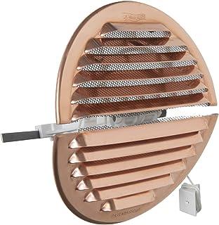 La Ventilation GRADF125R kratka wentylacyjna okrągła, składana, z miedzi, z siatką przeciw owadom, średnica 150 mm