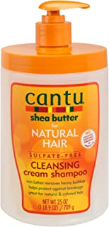 Cantu Shea Butter for Natural Hair Sulfate-Free Cleansing Cream Shampoo, 25 Ounce
