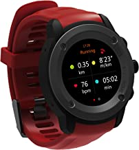 GPS Running Watch Heart Rate Monitor Sport Watch Compatible iOS Android with 3-4 Days Standby time Magnetic Charging Station (Red)
