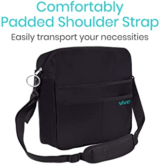 Vive Rollator Bag - Universal Travel Tote for Carrying Accessories on Wheelchair, Rolling Walkers & Transport Chairs ...