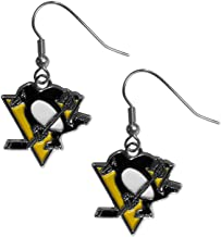 Violet Victoria /& Fan Star Hockey Earrings Hockey Stick Post Earrings