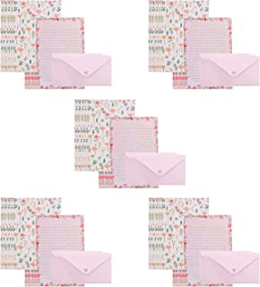 RICISUNG レターセット 封筒15枚 便箋30枚 便せん メッセージカード 封筒セット お祝い手紙 カード 挨拶状 感謝祭 結婚式 ラブレター 記念日