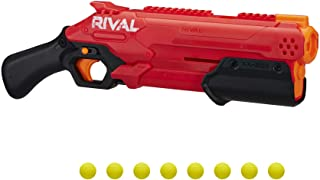 NERF Rival Takedown XX-800 Blaster -- Pump Action, Breech-Load, 8-Round Capacity, 90 FPS, 8 Official Rival Rounds -- Team Red