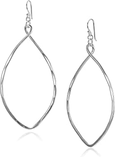 Womens Large Oval Drop Earrings