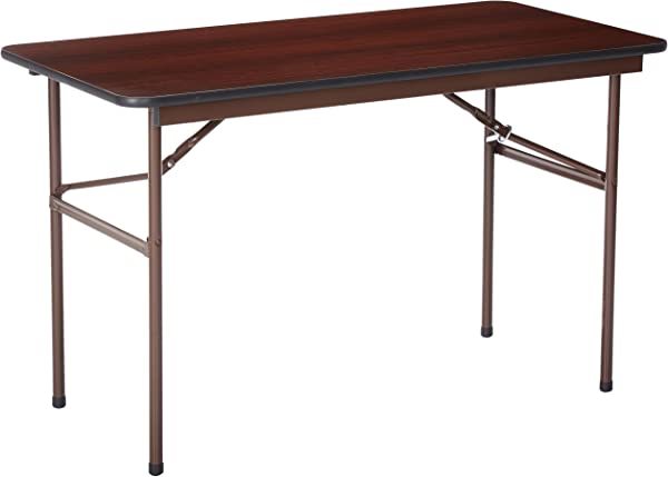 Lorell Folding Table 48 By 24 By 29 Inch Mahogany