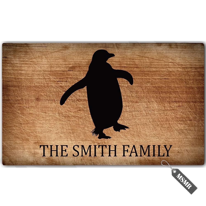 MsMr Personalized [Your Name] Door Mat Indoor Outdoor Custom Doormat Decorative Home Office Welcome Mat Penguin Doormat 30