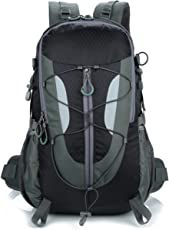 Lily's Locker - 30L Hiking Backpack Women Man Daypack with Laptop Compartment for Camping Traveling Mountaineering Trekking or School 29 x50 x18CM
