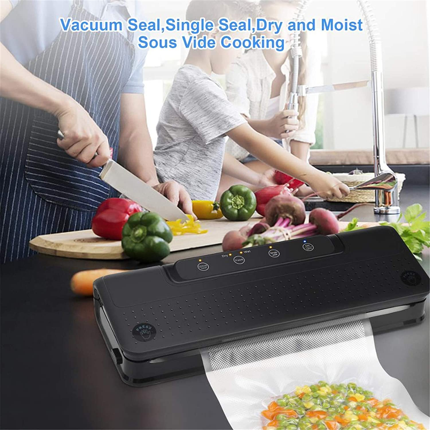 SXPC Portable électrique Automatique Cuisine Mini Handheld Foodsaver Vide Scellant Machine,Bleu Black