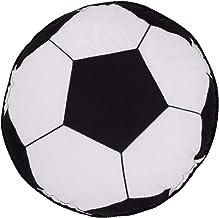 Almofada decorativa Little Love da NoJo Sports - Bola de futebol preta e branca com bordado