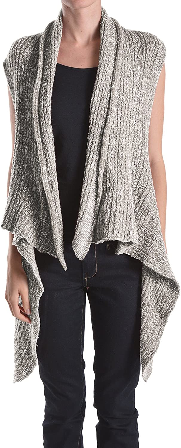 BASICO lowest price Women's Solid 5 ☆ very popular Knit Shrug Scarf Cardigan Two Sweater Vest