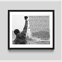Rocky Balboa Framed Wall Art, Rocky Balboa, Framed Art, Rocky Motivational,Framed Art, Rocky, Boxing, Life Quote,Art Print, Wall Art, Rocky Boxing Speech, Framed Art, It Ain't About How Hard You hit