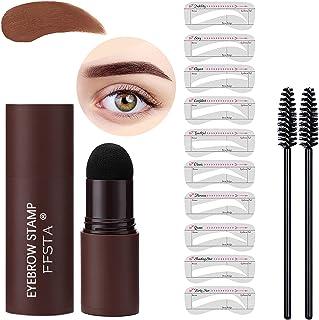 FFSTA Eyebrow Stamp Stencil Kit,1 Step Brow Stamp Shaping Eyebrow Stencil Kit For Perfect Brow Eyebrow Stamp Waterproof Lo...