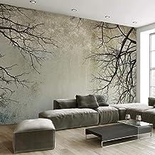 3D Mural Papel Pintado Decoración De La Pared,Patrón De Árbol Seco En La Niebla,Impresión 5D Hd La Seda Decoración De Pare...