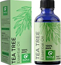 Pure Tea Tree Oil Natural Essential Oil with Benefits for Face Skin Hair Nails Heal Piercings Cuts Multipurpose Surface Cleaner