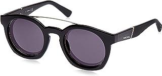 Black Nero Lucido//Fumo , Diesel Unisex Adults/' DL0268 01A 52 Sunglasses