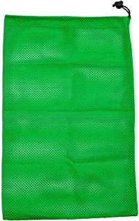 "18"" x 11.5"" Heavy-Duty Drawstring Sports Ball Equipment Mesh Bag (7 Colors Available)"