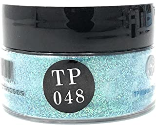 TP Dipping Powder 1 oz. Advanced polymer dip powder color (TP48 Baby Blue Glitter)